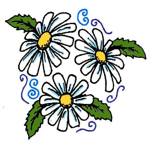500x478 Collection Of Free Daisy Tattoo Designs