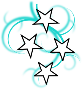 276x299 Teal And White Tattoo With Stars Clip Art