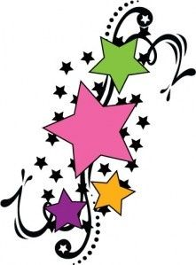 221x299 White Magic Symbols And Meanings Star Tattoos Shooting Stars