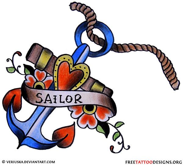 600x541 Anchor Clipart Tatoo