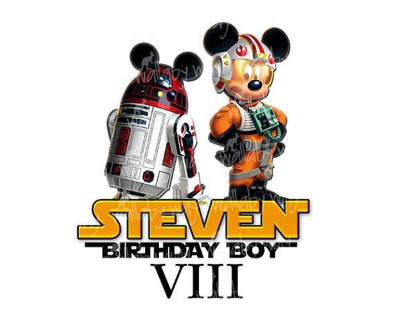 570x456 Disney Star Wars Mickey Birthday Printable Iron On Transfer Or Use