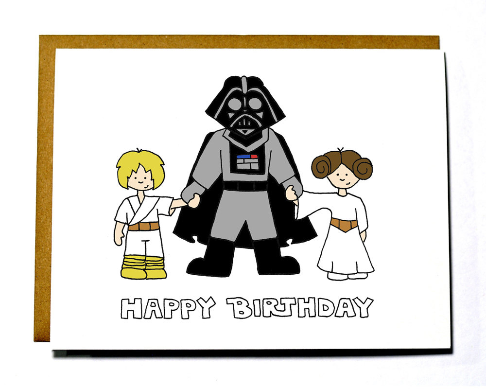 1000x800 Simple And Funny Star Wars Birthday Greeting Card With Darth Vader
