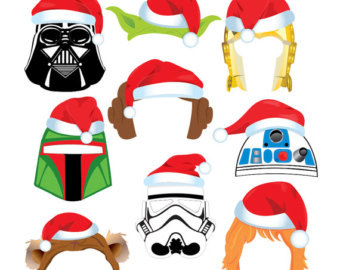 340x270 Christmas Star Wars Clipart