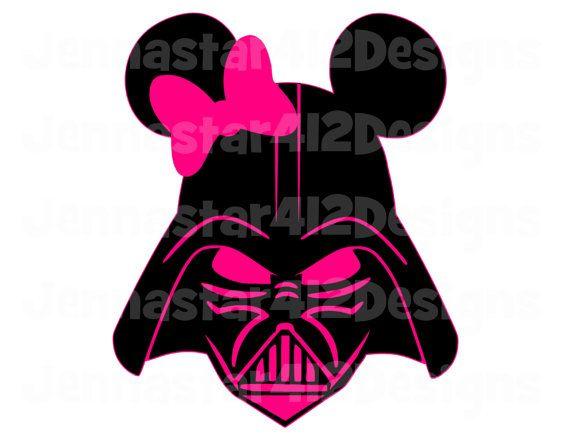 570x440 Star Wars Darth Vader Mickey Pink Bow Diy Printable Iron