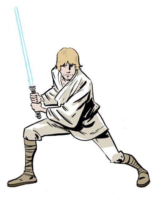 500x675 Luke Skywalker Clipart Lightsaber