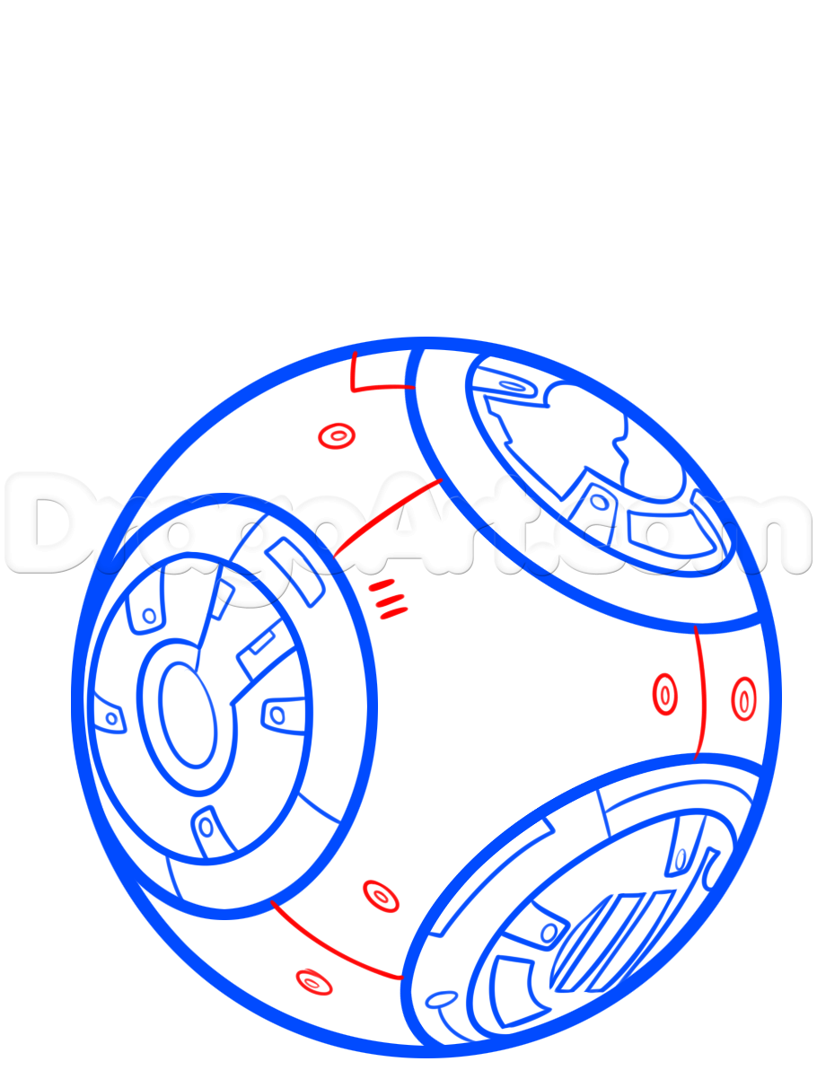 910x1202 How To Draw Bb 8 Step 4 Bb 8 Star Wars Vii Birthday