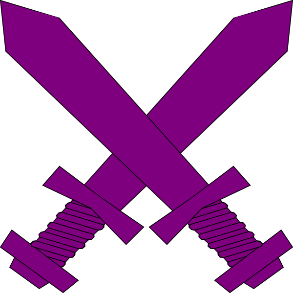 600x600 Purple Lightsaber Purple Crossed Swords Clip Art
