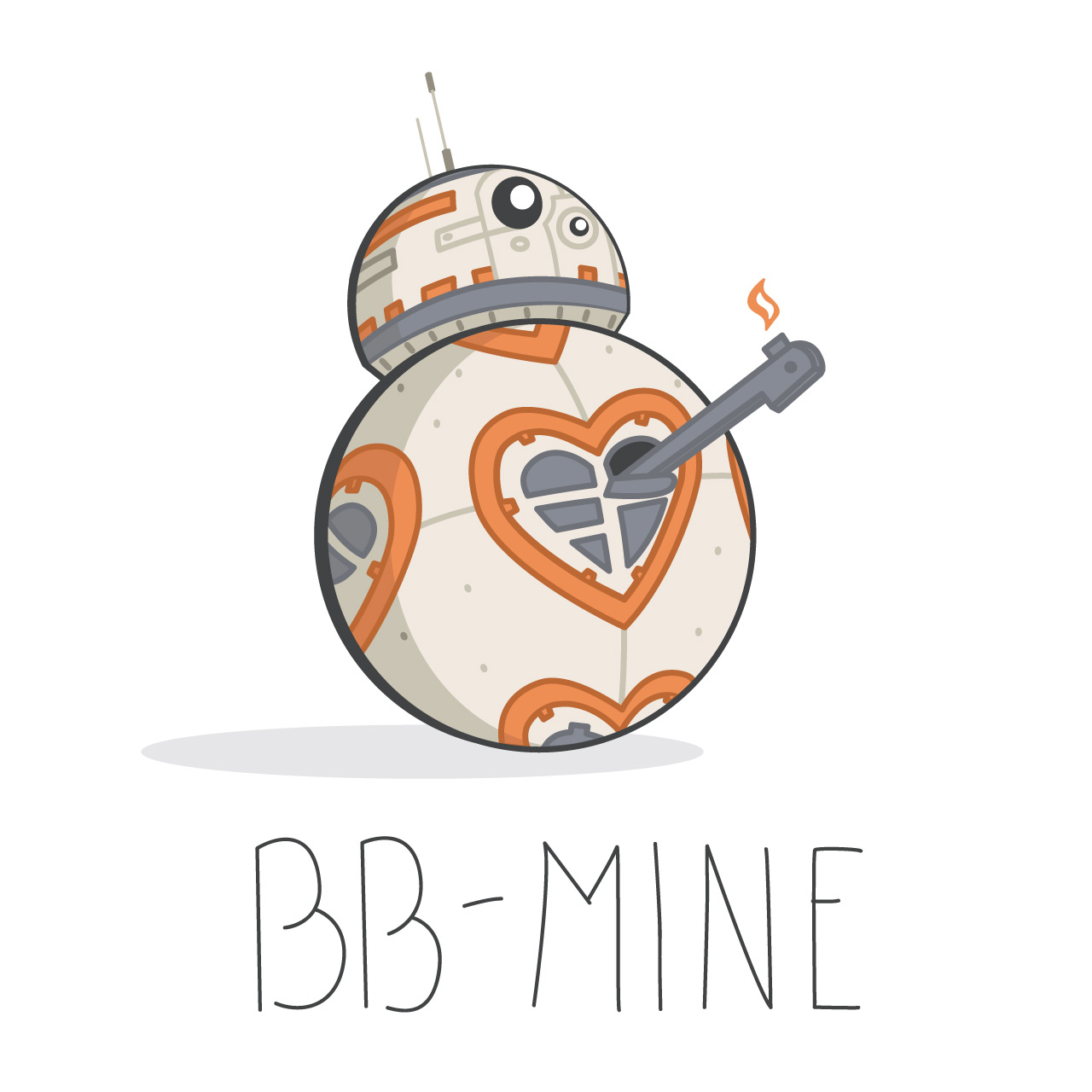 1280x1280 Star Wars The Force Awakens Valentines!