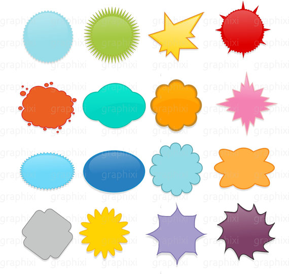 570x539 Starburst Clipart, Commercial Use, Personal Use, Digital Image