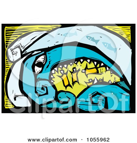 450x470 Royalty Free Vector Clip Art Illustration Of A Woodcut Styled