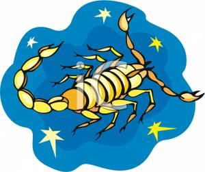 300x251 Clip Art Image Scorpio The Scorpion In A Starry Sky