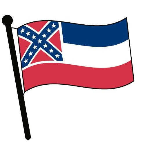 500x500 Mississippi Waving Flag Clip Art