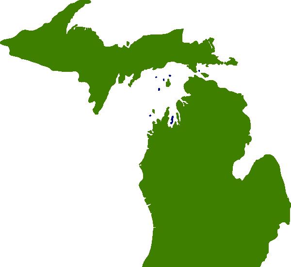 600x550 State Of Michigan Clipart