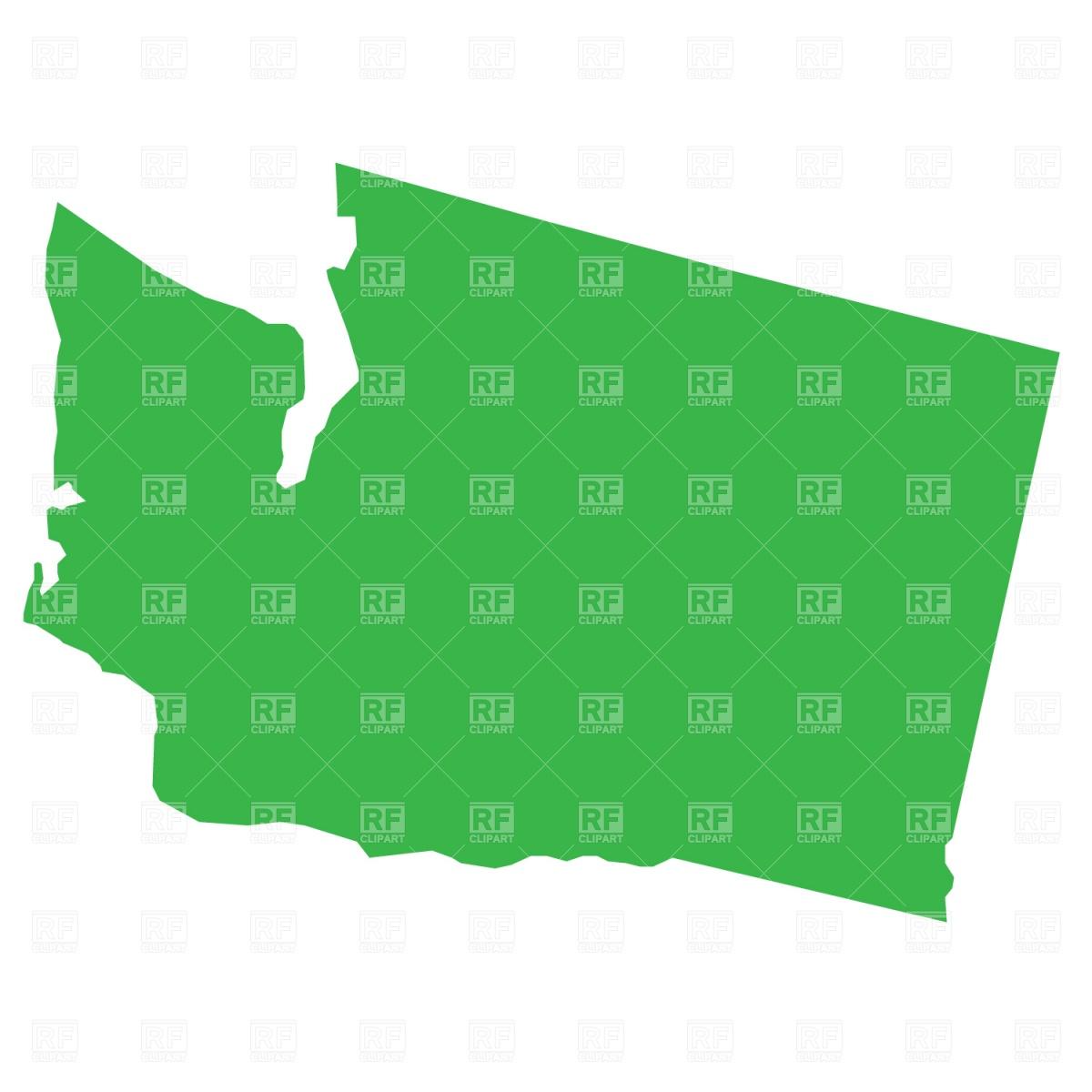 1200x1200 Washington State Map Royalty Free Vector Clip Art Image