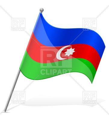 362x400 Wavy State Flag Of Azerbaijan