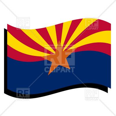 400x400 Arizona State Flag Royalty Free Vector Clip Art Image