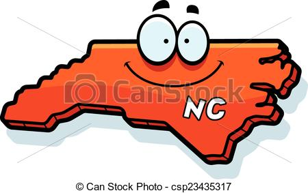 450x283 Cartoon North Carolina. A Cartoon Illustration Of The State