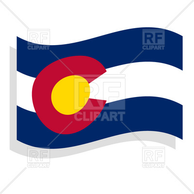 400x400 Colorado state flag Royalty Free Vector Clip Art Image