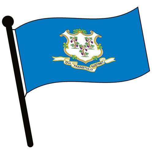 500x500 Connecticut Waving Flag Clip Art