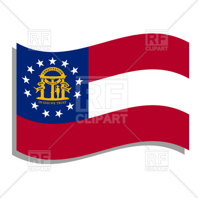 400x400 Georgia State Flag Royalty Free Vector Clip Art Image