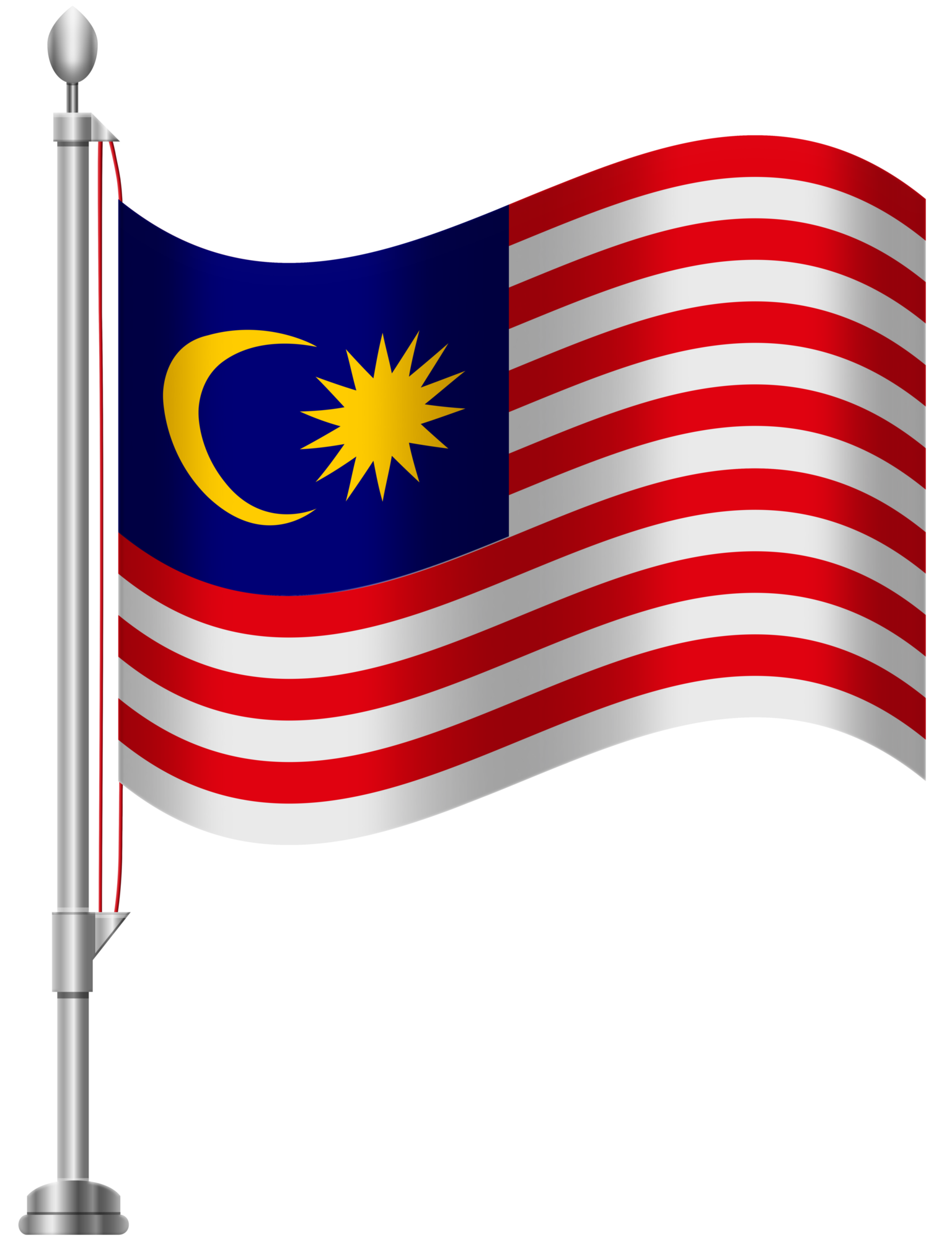 1536x2000 Malaysia Flag PNG Clip Art
