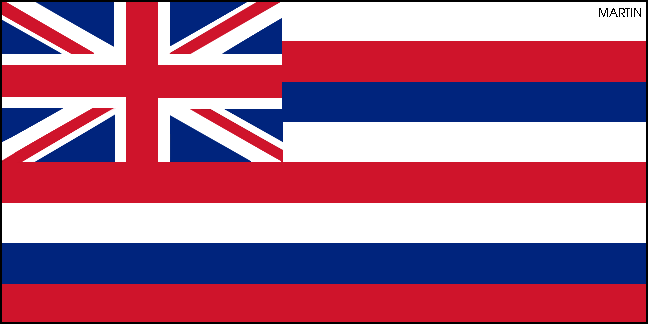 648x325 United States Clip Art By Phillip Martin, State Flag Of Hawaii