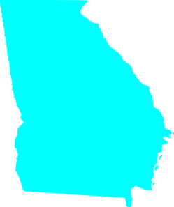 249x297 Georgia State Map Outline Solid Clip Art