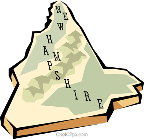 480x464 New Hampshire State Map Royalty Free Vector Clip Art Illustration