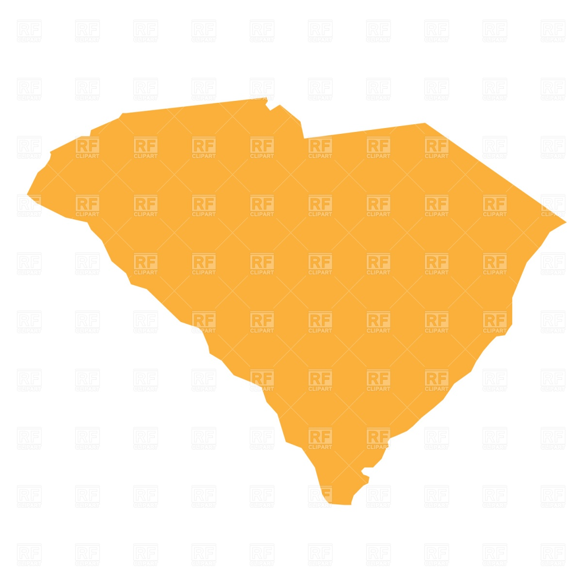 1200x1200 South Carolina State Map Royalty Free Vector Clip Art Image