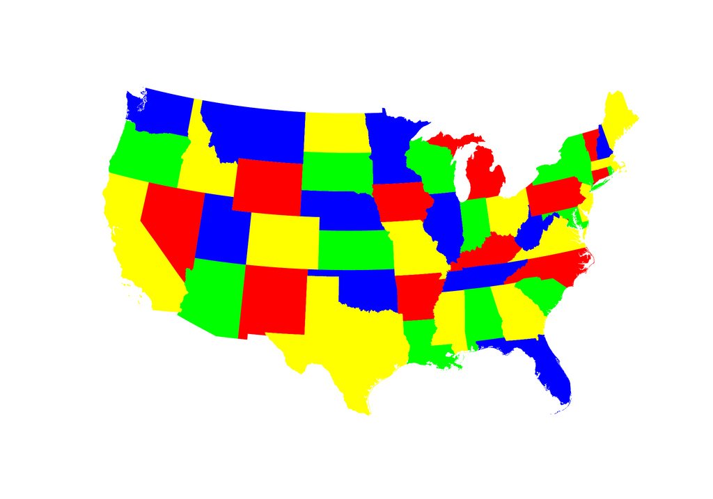 1024x717 United States Map Clipart