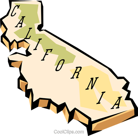 480x472 California State Map Royalty Free Vector Clip Art Illustration