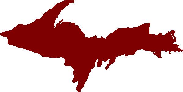 600x302 Michigan Upper Peninsula Clip Art