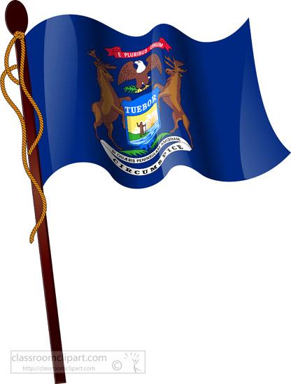 416x550 Michigan Clipart Michigan Flag Clipart