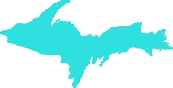 600x307 Michigan Clipart Mapclean Teal