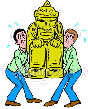 284x350 Royalty Free Clip Art Image Movers Moving A Statue