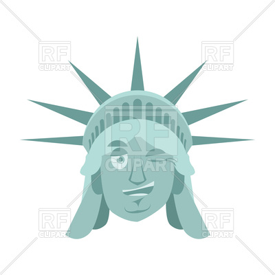 400x400 Statue Of Liberty Winks Emoji Royalty Free Vector Clip Art Image