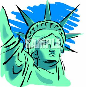 298x300 The Face Of The Statue Of Liberty