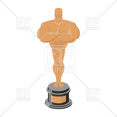 400x400 Bronze Statue Award On White Background Royalty Free Vector Clip