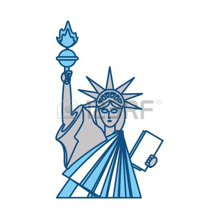 450x450 Drawn Statue Of Liberty Clip Art