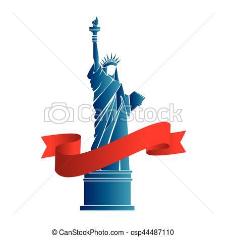450x470 Liberty Statue New York Emblem Vector Illustration Design Vector