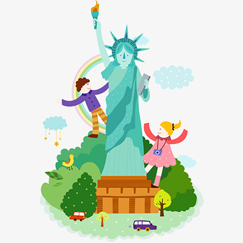 500x500 Statue Of Liberty Cartoon, Cartoon, Cartoon Shape, Free Png Image