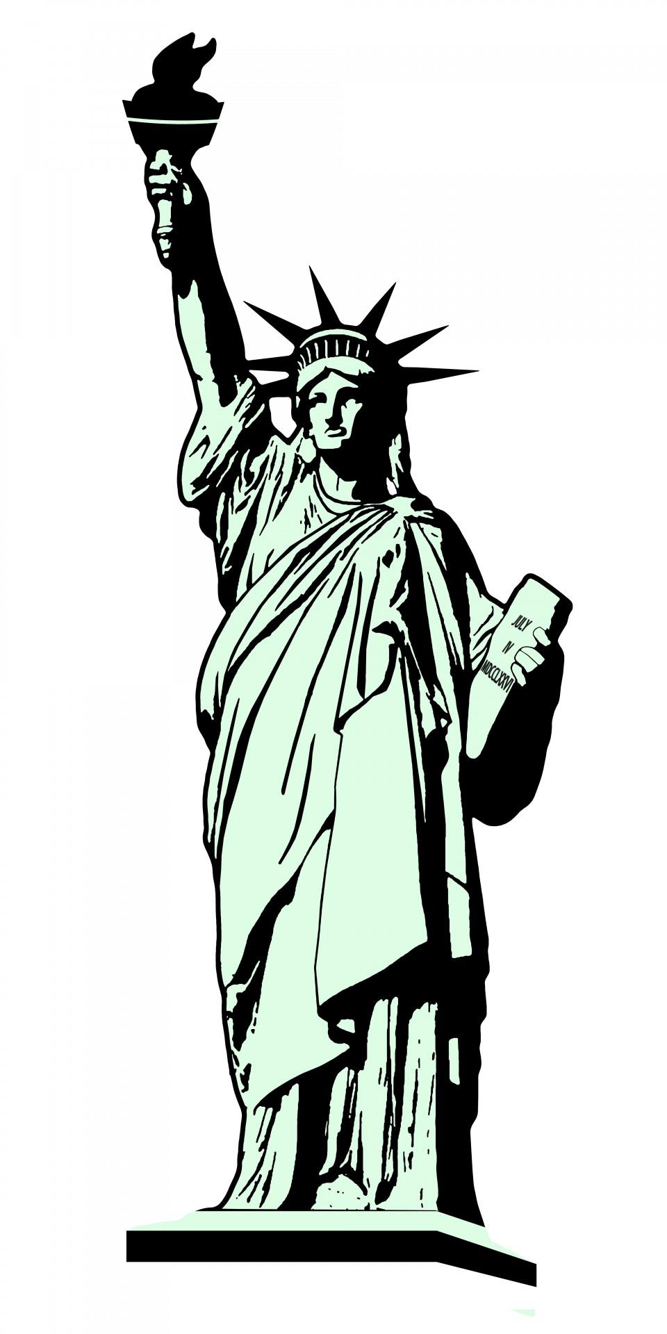 960x1920 Statue Of Liberty Illustration Free Stock Photo