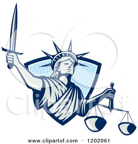 450x470 Statue Of Liberty Clipart Blue