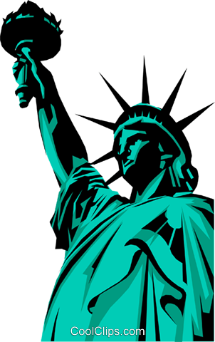 302x480 Statue Of Liberty Royalty Free Vector Clip Art Illustration