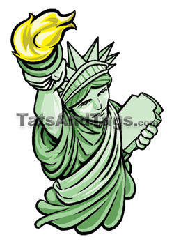 250x350 Statue Of Liberty Temporary Tattoo Patriotic Designs By Custom Tags