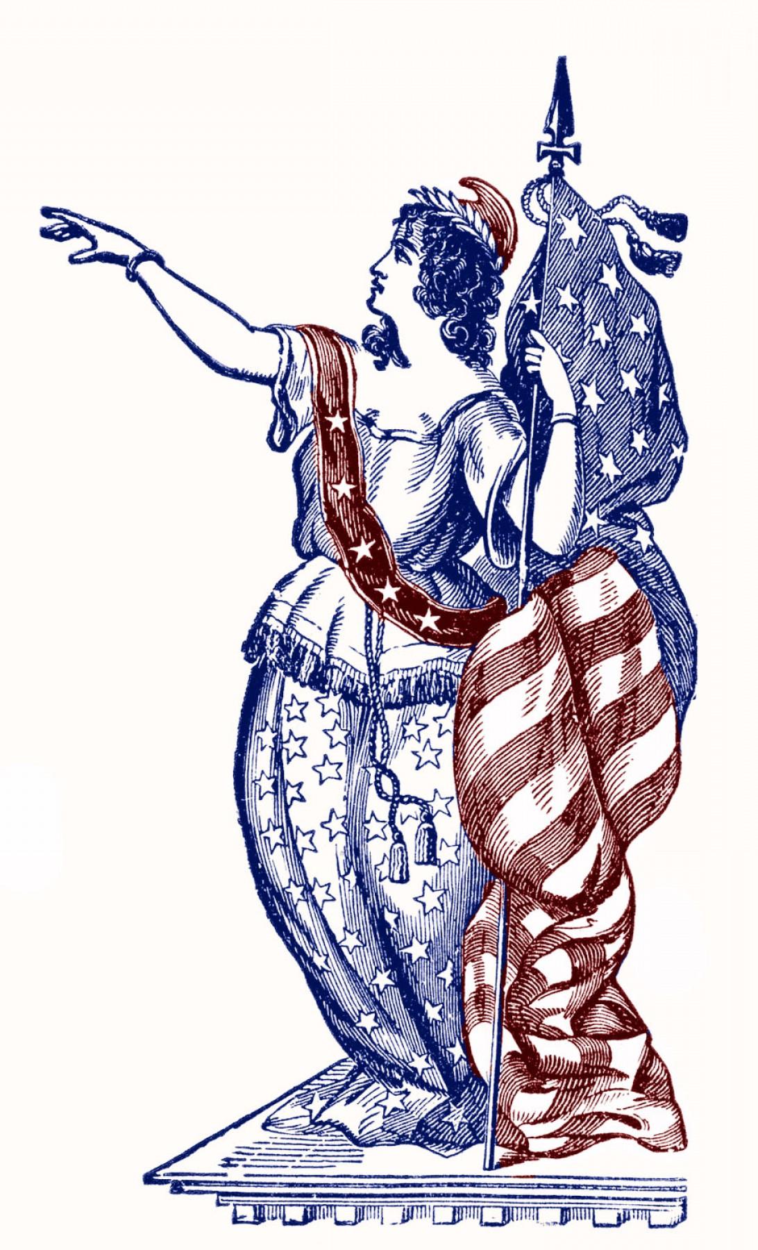 1092x1800 Vintage Patriotic Clip Art Lady Liberty Th Of July Createmepink