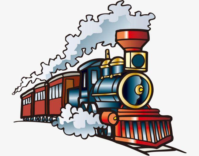 650x511 Hand Painted With Cartoon Steam Train, Cartoon Vehicles, Hand