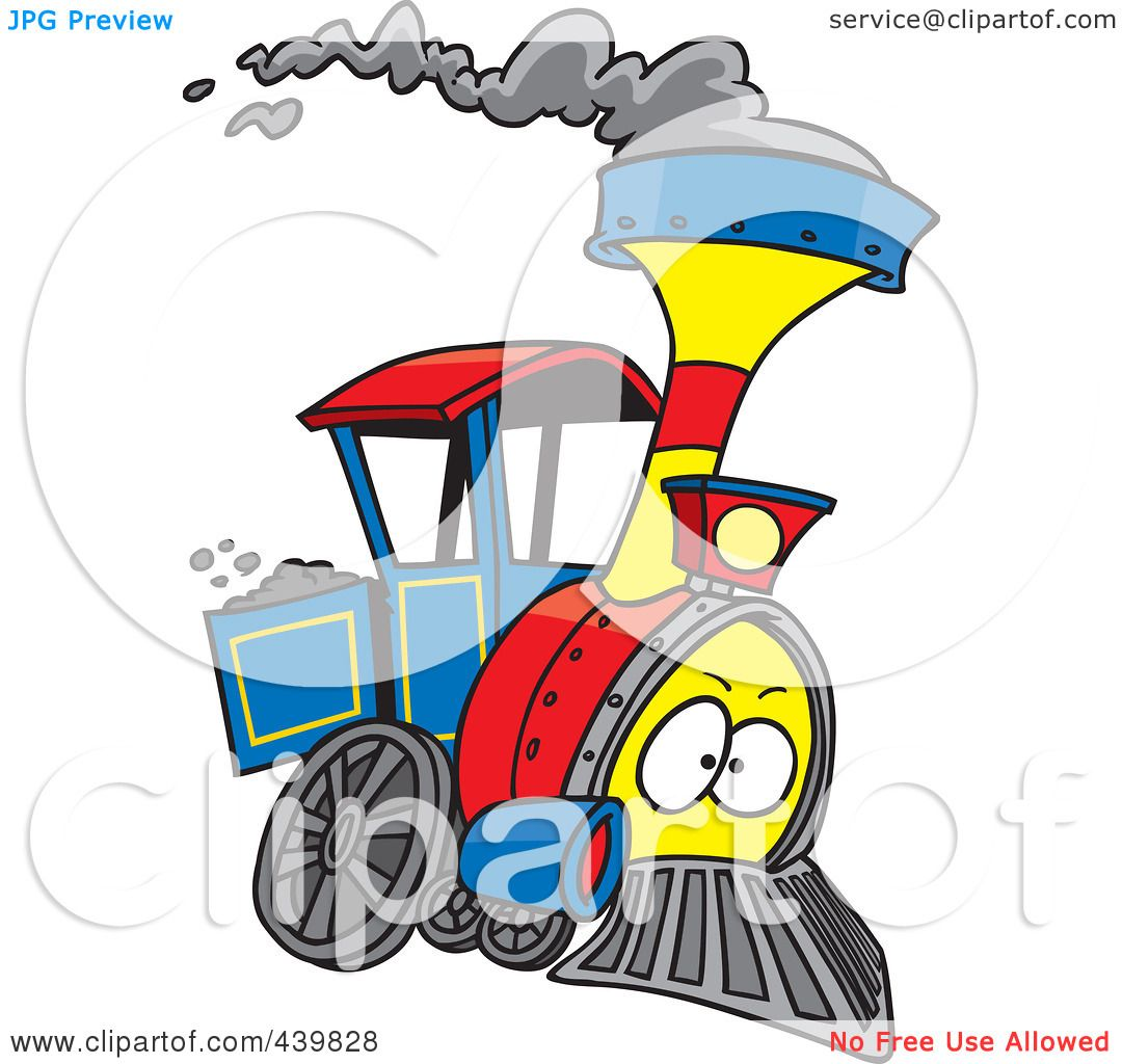 1080x1024 Royalty Free (Rf) Clip Art Illustration Of A Cartoon Steam Engine