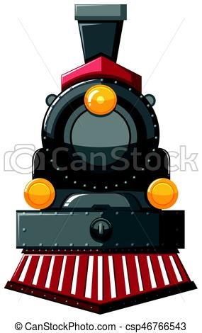 285x470 Steam Engine In Gray Color Illustration Eps Vector