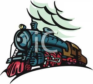 300x272 A Steam Train Clipart Picture